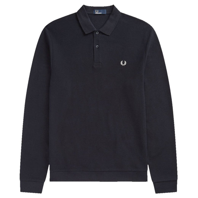 Fred Perry M4569 Honeycomb Texture Pique Polo in Navy Polo Shirts Fred Perry