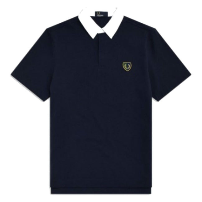 Fred Perry M5581 Shield Badge Rugby Polo in Blue Polo Shirts Fred Perry
