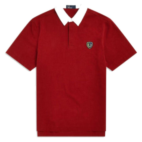 Fred Perry M5581 Shield Badge Rugby Polo In Scarlett Polo Shirts Fred Perry