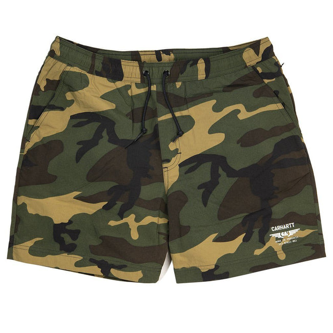 Carhartt Swim Trunks in Camo Laurel/ White Swimwear Edwards Menswear