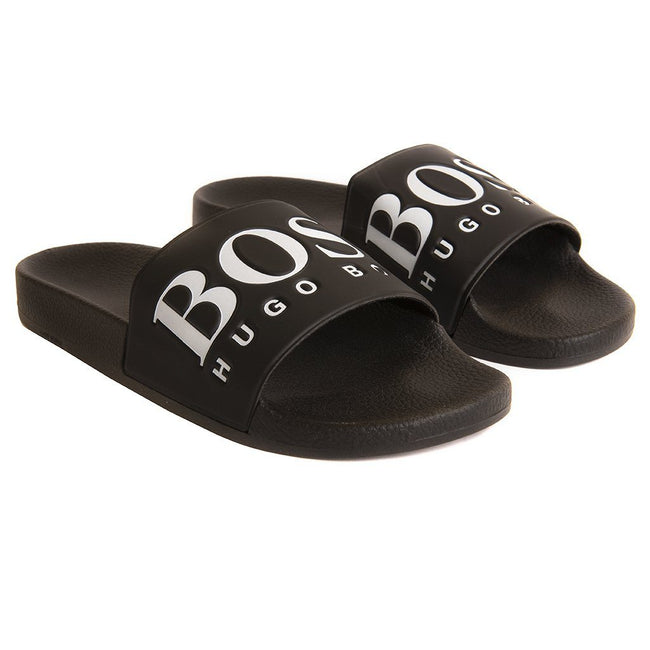 BOSS Athleisure Solar Slider in Black Flip Flops BOSS