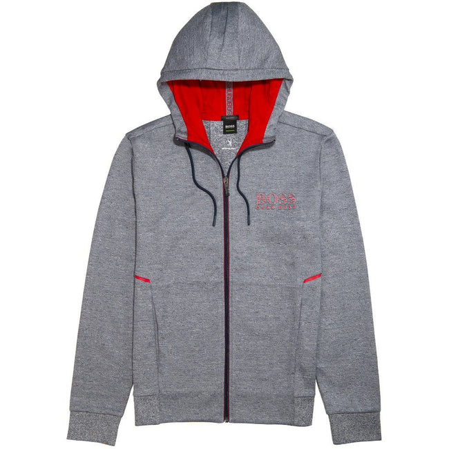 BOSS Athleisure Saggy Full Zip Hoodie in Grey Hoodies BOSS