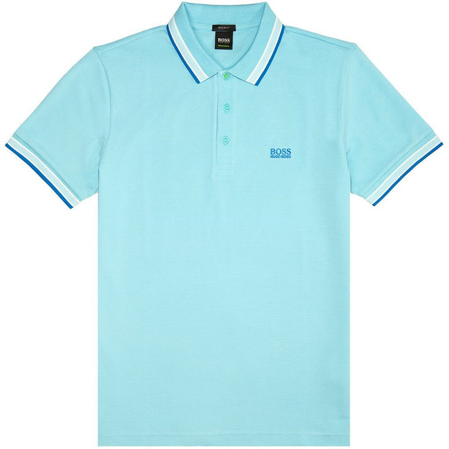 BOSS Athleisure Paddy Polo Shirt in Light Blue Polo Shirts BOSS