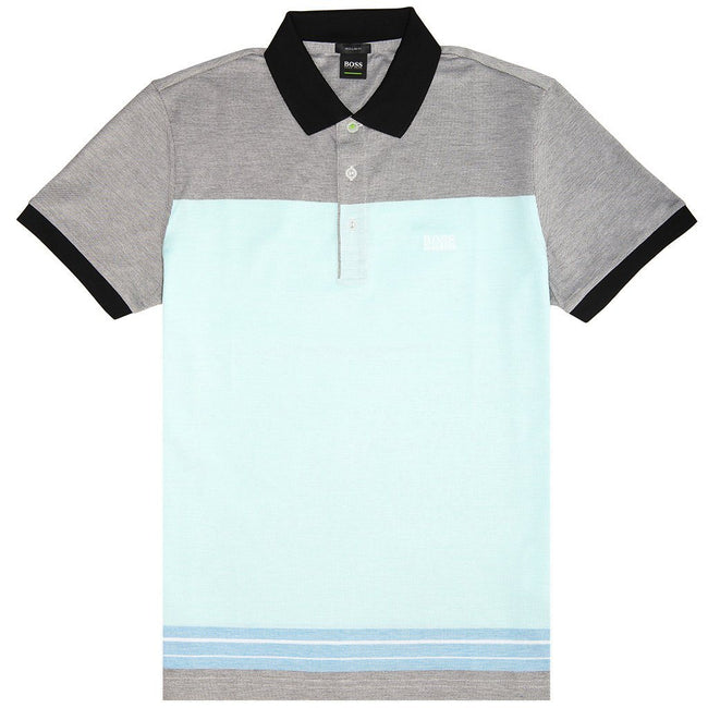 BOSS Athleisure Paddy 4 Polo Shirt in Light Blue Polo Shirts BOSS
