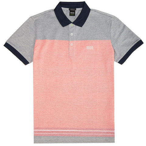 BOSS Athleisure Paddy 4 Polo Shirt in Red Edwards Menswear