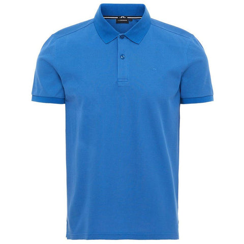 J. Lindeberg Troy Clean Pique in Work Blue Polo Shirts J. Lindeberg