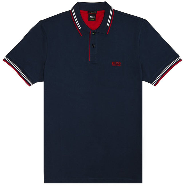 BOSS Athleisure Paul Polo Shirt in Navy Polo Shirts BOSS