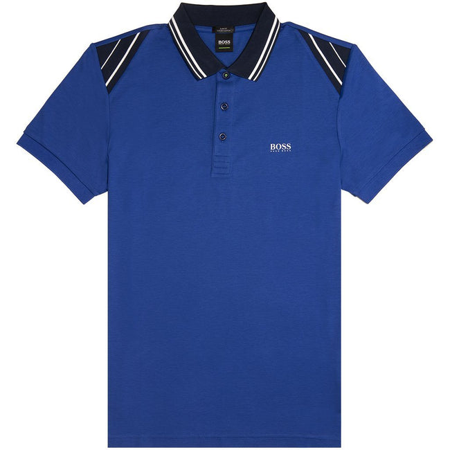 BOSS Athleisure Paule 1 Polo Shirt in Blue Polo Shirts BOSS
