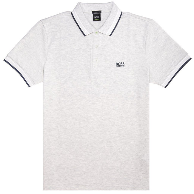 BOSS Athleisure Paddy Polo Shirt in Grey Polo Shirts BOSS