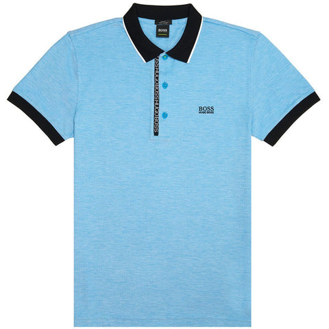 BOSS Athleisure Paule 4 Polo Shirt in Light Blue Polo Shirts BOSS