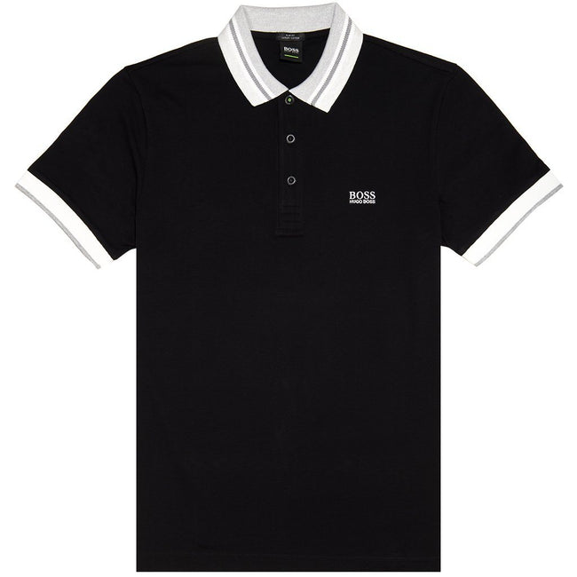 BOSS Athleisure Paule 3 Polo Shirt in Black Polo Shirts BOSS
