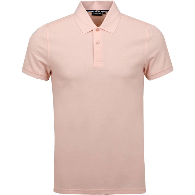 J. Lindeberg Troy Clean Pique Polo in Summer Beige