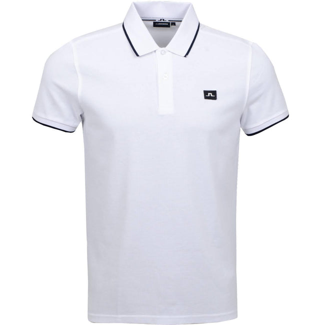J. Lindeberg Roy Clean Pique Polo in White