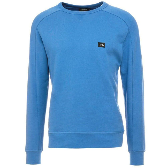 J. Lindeberg Throw C-Neck Ring Loop Sweatshirt in Work Blue