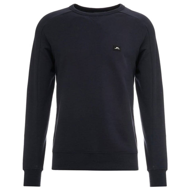 J. Lindeberg Throw C-Neck Ring Loop Sweatshirt in JL Navy