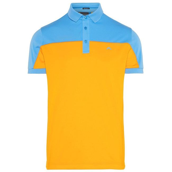 J. Lindeberg Mateo Regular Fit TX Coolmax Polo Shirt in Warm Orange