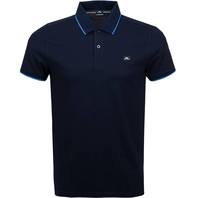 J. Lindeberg Roy Clean Pique Polo Shirt in JL Navy