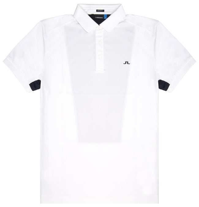 J. Lindeberg Dario Slim Fit Polo Shirt in White