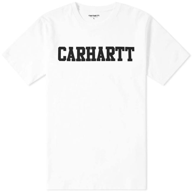 Carhartt S/S College T-Shirt in White/ Black