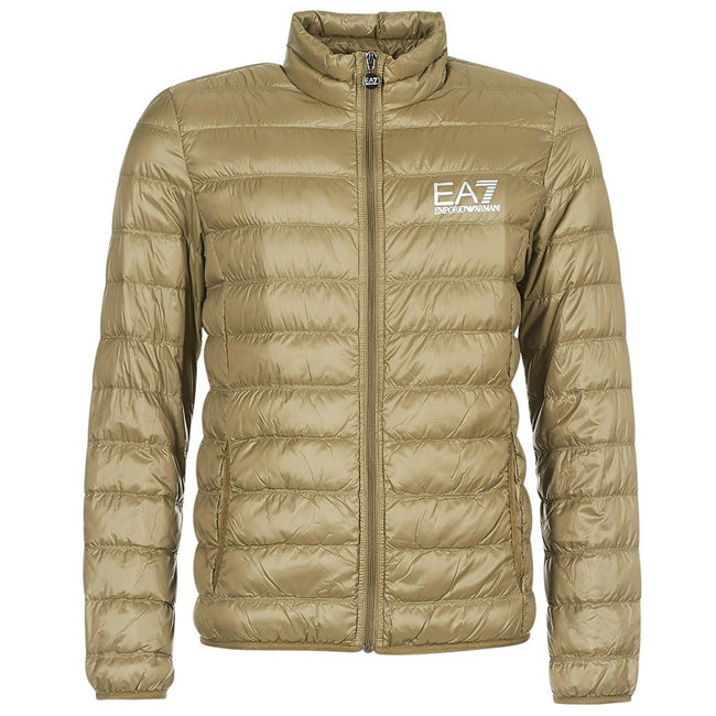 EA7 Emporio Armani Down Collar Jacket in Stone Grey