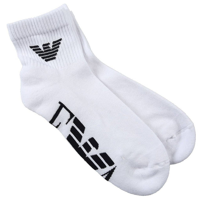 Emporio Armani 2 Pack Sport Socks in White