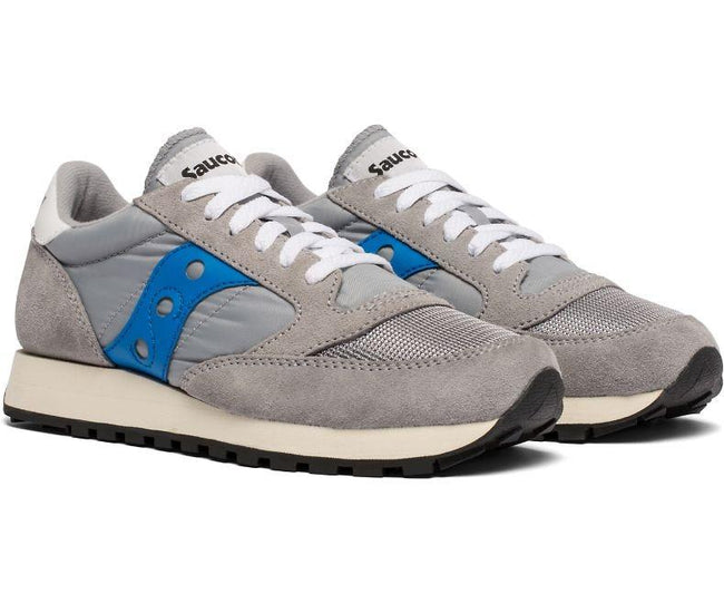 Saucony Jazz Original Vintage Trainer in Grey/ Blue