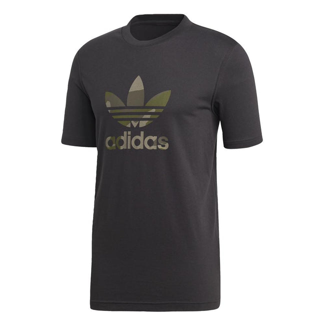 adidas DX3674 Camouflage Trefoil Tee in Black T-Shirts Edwards Menswear