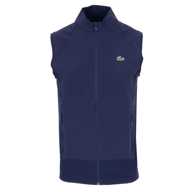 Lacoste Sport Quilted Gilet in Navy Blue