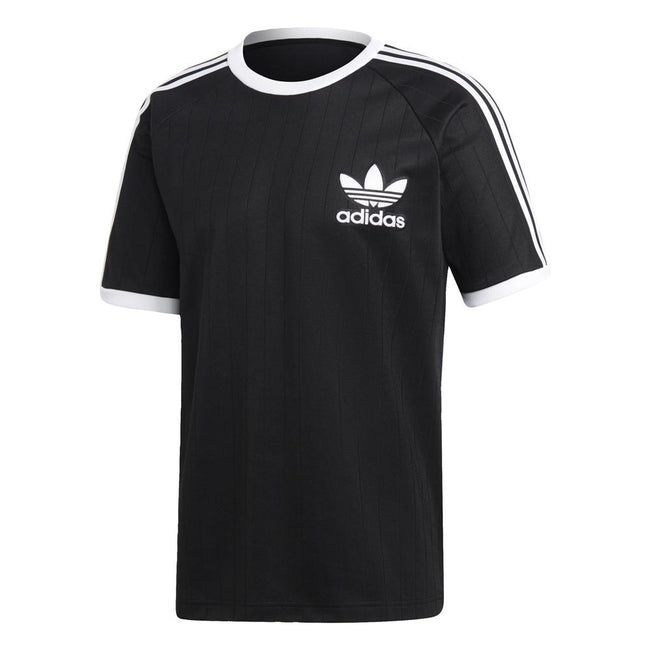 adidas DV1621 Baseball Tee in Black/ White T-Shirts adidas