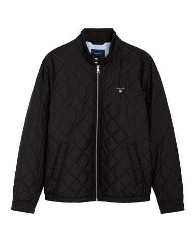 Gant Quilted Windcheater in Black Coats & Jackets Gant