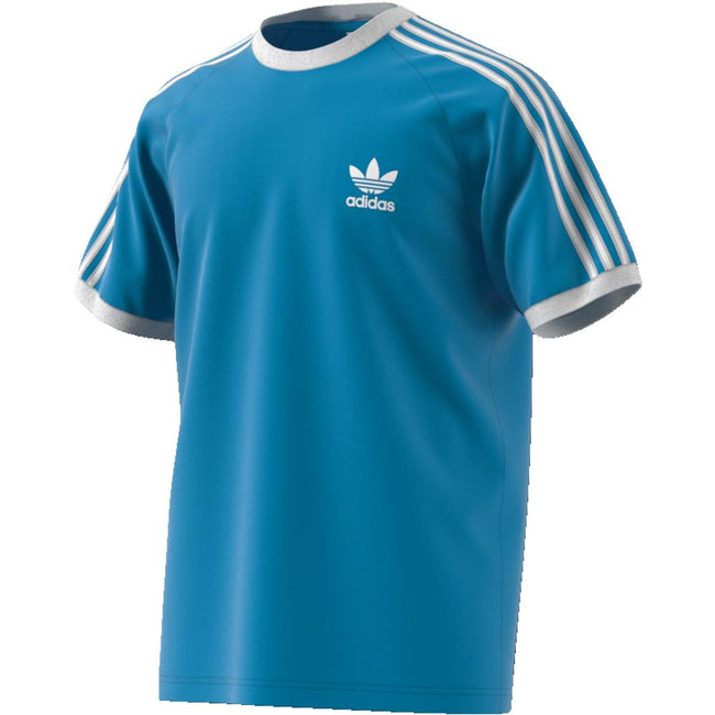 adidas DZ4587 3- Stripes T-Shirt in Shock Cyan T-Shirts adidas