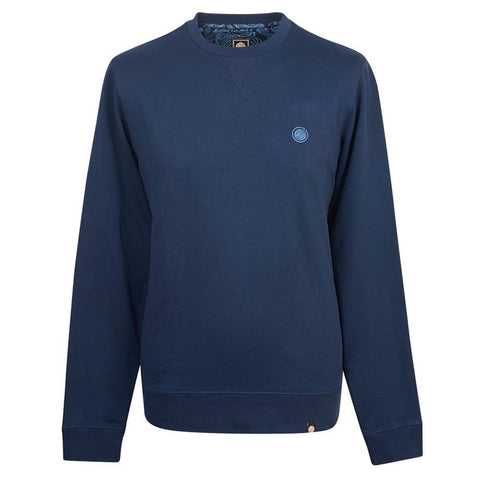 Pretty Green Loopback Sweatshirt in Navy Jumpers Pretty Green