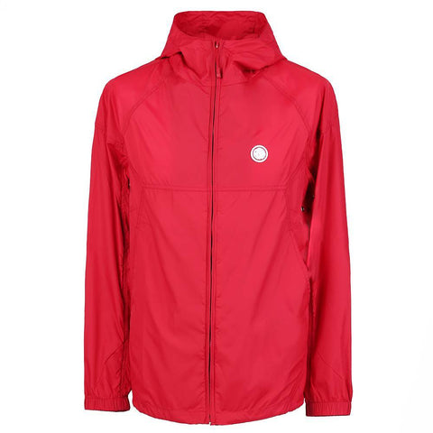 Pretty Green Lightweight Hooded Nylon Jacket in Red Coats & Jackets Pretty Green