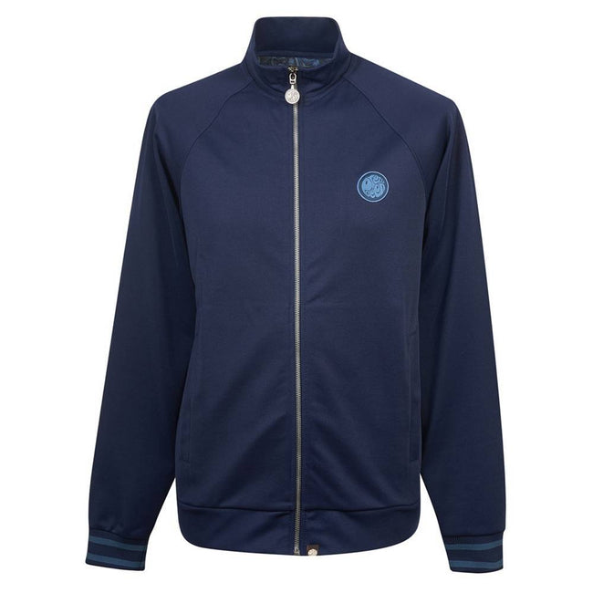 Pretty Green Zip Through Track Top in Navy Jumpers Pretty Green