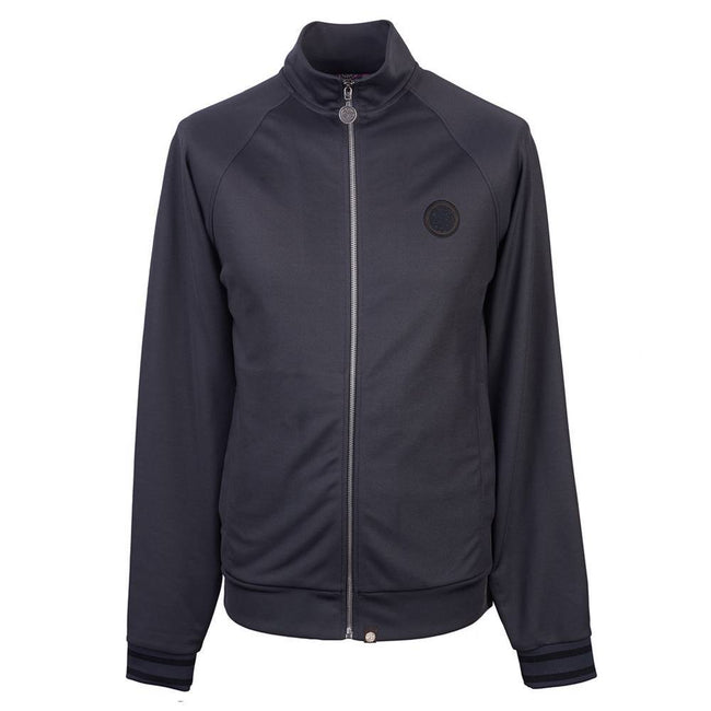 Pretty Green Zip Through Track Top in Grey Marl Jumpers Pretty Green