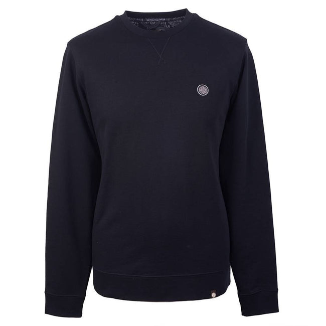 Pretty Green Loopback Sweatshirt in Black Jumpers Pretty Green