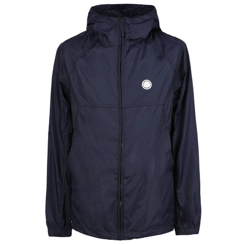 PRETTY GREEN LIGHTWEIGHT HOODED NYLON JACKET IN NAVY Coats & Jackets Pretty Green