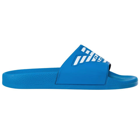 Emporio Armani Swimwear Slider in Blue Aster Shoes Emporio Armani