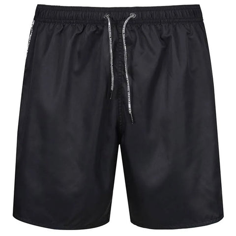 Emporio Armani Beachwear Swim Trunks in Black Swimwear Emporio Armani