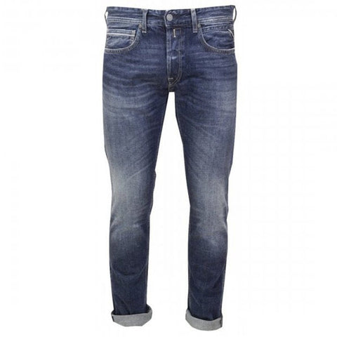 Replay Grover Straight Leg Jeans in Blue Jeans Replay