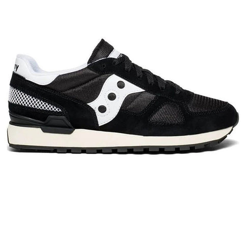 Men's Saucony Shadow Original Vintage Trainer in Black/ White Trainers Saucony