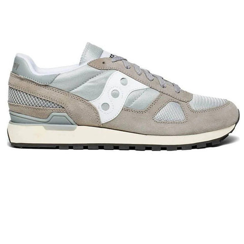 Men's Saucony Shadow Original Vintage in Grey/ White Trainers Saucony