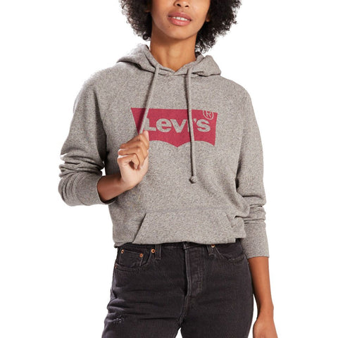 Women's Levi's Graphic Sport Hoodie in Grey Hoodies Levi's