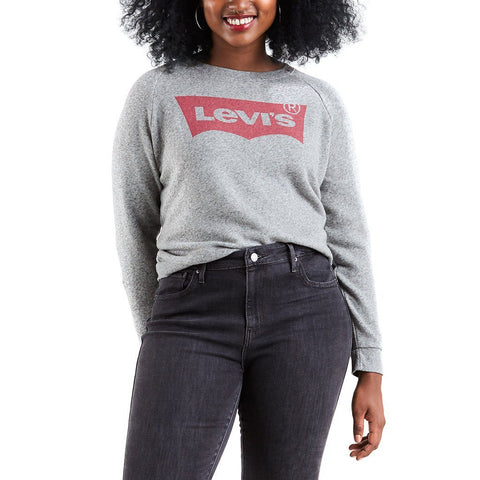 Women's Levi's Relaxed Graphic Crew Sweater In grey sweatshirt Levi's