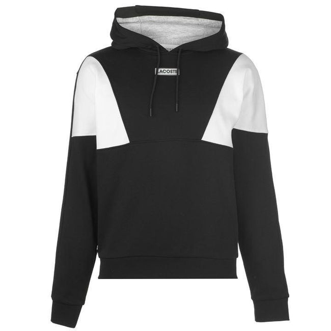 Lacoste Sport SH3498-NUA Hooded Sweatshirt in Black / White Hoodies Lacoste