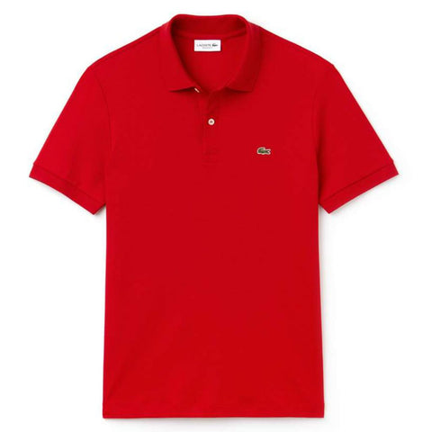 Lacoste DH2050-240 Regular Fit Pima Cotton Polo in Red Polo Shirts Lacoste