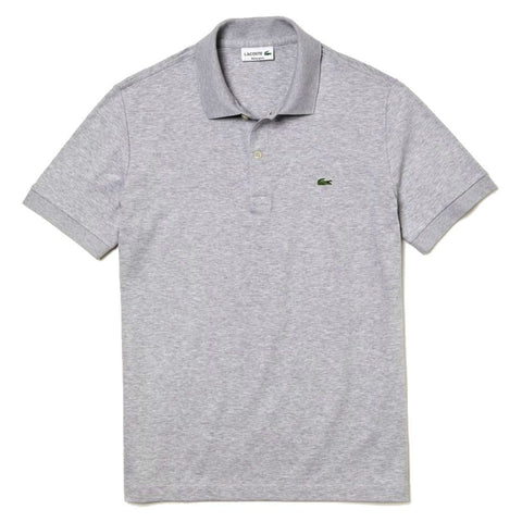 Lacoste DH2050-CCA Regular Fit Pima Cotton Polo in Grey Polo Shirts Lacoste