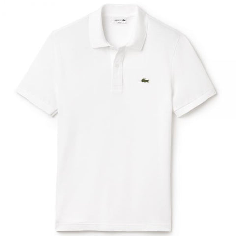 DH2050-001 Regular Fit Pima Cotton Polo in White Polo Shirts Lacoste