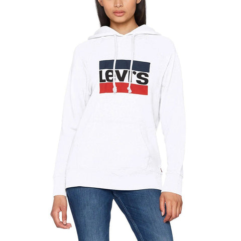 Graphic Sport Hoodie in White Hoodies Levi's Women's