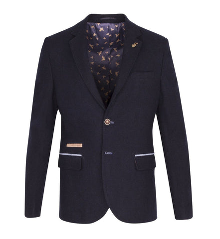FJK.1004 Navy Tweed Suit Jacket Suit Jacket Fratelli Uniti